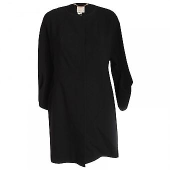 Paola Collection Black Bell Sleeve Dress Coat