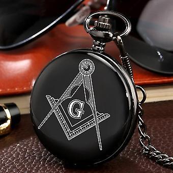 مربع وبوصلة ساعة جيب الماسونية