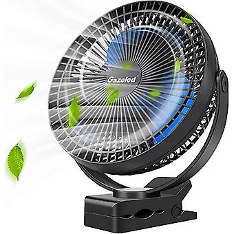 Clip On Portable Usb Fan For Baby Stroller, 8 Inch 4-speed