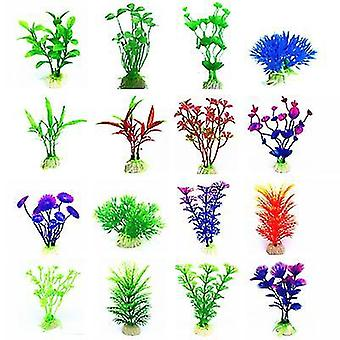 2ks f akvarijná nádrž dekorácie simulácie vodných rastlín akvárium krajiny nastaviť falošné vodné rastliny dekoratívne az21981