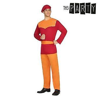 Costume per adulti Haystack Red (4 Pezzi)