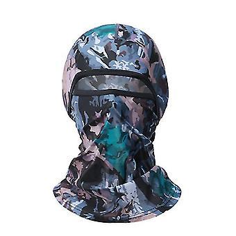 Camouflage motif de camouflage d'été glace soie couvre-chef, moto femme conduite masque complet az14081