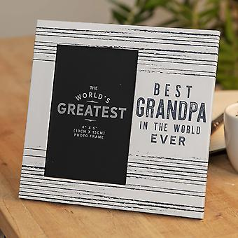 "4"" x 6"" - Best Grandpa In The World Ever Photo Frame"