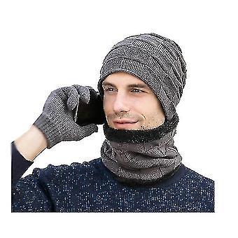 Print Scarf Cashmere Feel Warm Winter Neck Wraps Pashmina Shawls(GRAY)