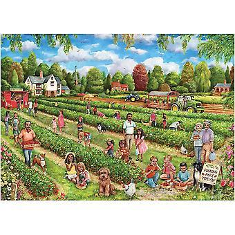 Falcon Deluxe Strawberry Picking Legpuzzel (1000 stukjes)