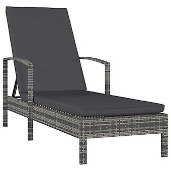 vidaXL chaises avec accoudoirs Poly Rottan Gris