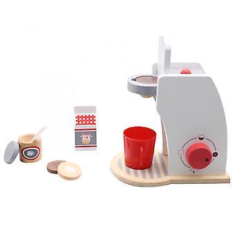 Ahşap Kahve Makinesi Mutfak Seti
