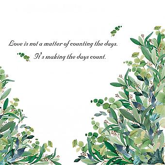 Greens Leeves Plant Wall Sticker Home Decals (size:104cm X 83cm)
