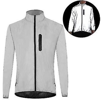 自転車の自転車ジャージ高い視認性反射ジャケットコート防水防風屋外ナイトスポーツランニングサイクリングジャケット