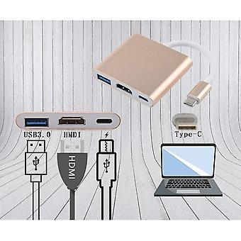 USB 3.1 Typ-C till HDMI / USB 3.0 / USB-C Multiport Adapter Audio Video Converter