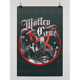 The Motley Crue. Poster -Motley Crue Designs