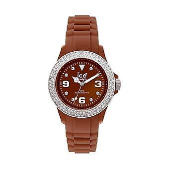 Ice-Watch steen Sili Brown-Silver Brown Dial Unisex horloge #ST. NS. U.S.10