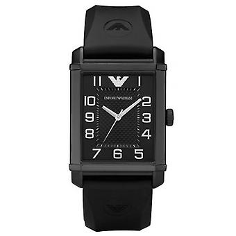 Emporio Armani AR0499 Classic Black Strap Black Dial Chronograph Watch