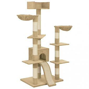 Chunhelife Cat Tree With Sisal Scratching Posts Beige 183 Cm Xxl