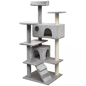 Chunhelife Cat Tree With Sisal Scratching Posts 125 Cm Grey