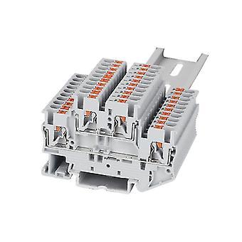 Din Rail elektrische draad connector terminal blok-dubbele laag