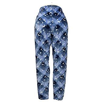 Cuddl Duds Pantalon de pyjama pour femme Imprimé Polaire Pull On Blue 662992