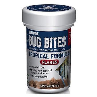 Fluval Bug Bites Larvy hmyzu Tropické rybí vločky - 0,63 oz