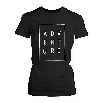 Abenteuer-Damen T-shirt Trendy typografischen T-Shirt Cute Kurzarm Hemd