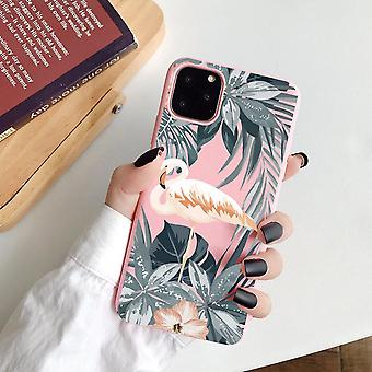 iPhone 13 &12 Pro Max Mini Shell Tropical Flamant Rose Feuille