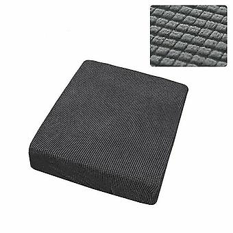 1 Sitzer Stretchy Sofa Sitz Kissen Bezug Couch Slipcovers Protector (Dunkelgrau)
