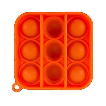 Erwachsene Pop es Push Bubble Fidget sensorisches Spielzeug Schlüsselanhänger für Anti-Stress und Angstlinderung (N)