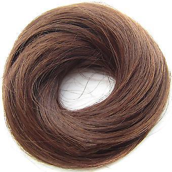 3 stk Elastik Lige Scrunchie Donut Chignon Wrap Hår Høj temperatur Fiber Syntetisk hår