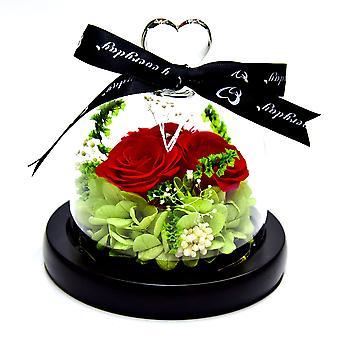 Natürliche ewige Rose Magische Rote Rose, Nie verwelkte Rosen, Premium Unsterbliche Blumen, Ewiges Leben Blumen für Verliebte, Geburtstag, Weihnachten, Weihnachtsgeschenk