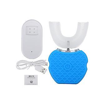 360 Sonic Brosse à dents électrique Usb Rechargeable Ipx7 Imperméable à l'eau Dents Blanchiment Silicone Brosse-b / bleu