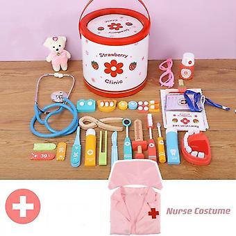 28pcs Doctor Medical Kit Pretend Play Toys Nurse Costume Dentist Role Playset