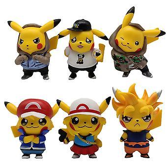 6 Fashion Clothes Pikachu Hand-made Fairy Baby Dolls Pokmon Blind Box Capsule Decoration Car