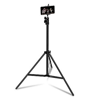Smartphone And Camera Tripod Adjustable From 72cm To 210cm Lightweight Linq Black