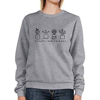 Plants Are Friends Cute Design Sweatshirt Gifts For Plant Lovers