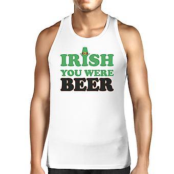 アイルランド ビール メンズ ホワイト コットン タンク トップ面白いデザイン タンクだったら