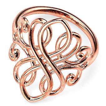 925 серебряные розового золота покрытием кольцо тенденция
