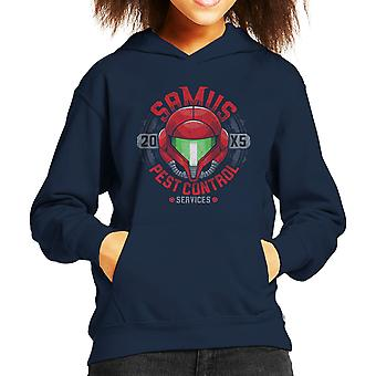 Metroid Samus Pest Control Kid's Hooded Sweatshirt