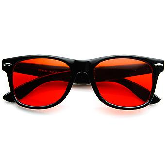 Rare Color Tinted Lens Classic Horn Rimmed Sunglasses