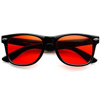 Couleur rare Tinted Lens corne classique monture de lunettes de soleil