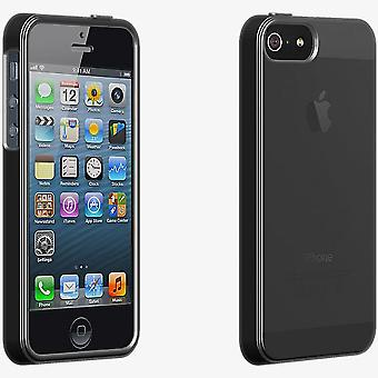 ベライゾン高光沢シリコン ケース iPhone 5/5 s/SE - ブラック