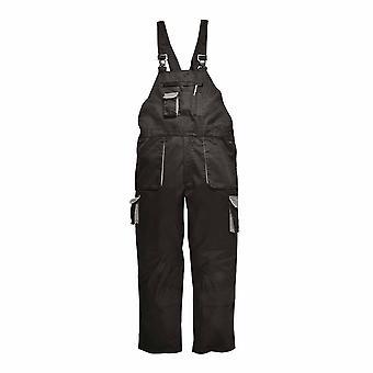 Portwest - Texo Workwear Uniform Warm Cotton Rich Contrast Bib & Brace - Lined