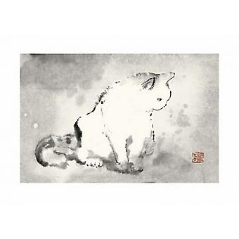Oosterse kat III Poster Print by Dehong Chen (28 x 20)