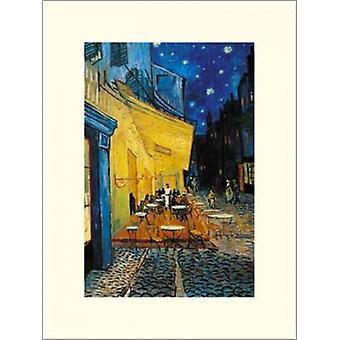 """شرفة مقهى في آرل """"مكان دو المنتدى"""" في ليلة c1888 """"طباعة ملصق"""" من فنسنت فإن جوخ (12 × 16)"""