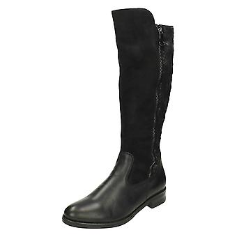 Ladies Remonte Boots With Patterned Detail D8577