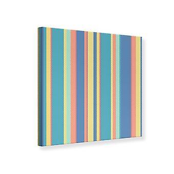 Canvas tulostaa pystyraitoja pastelli