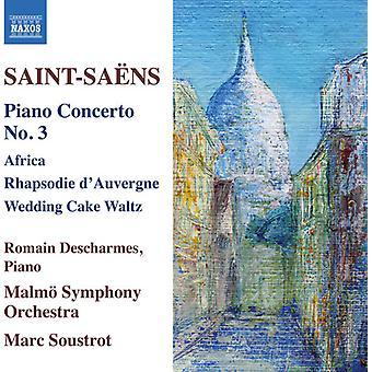 Saint-Seans / Descharmes / Soustrot - Camille Saint-Seans: Piano Concerto No 3 [CD] USA import