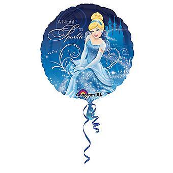 Amscan 18 インチ ディズニー シンデレラの輝き円形箔バルーン