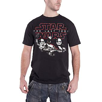 Star Wars T Shirt The Last Jedi Stormtroopers new Official Mens Black