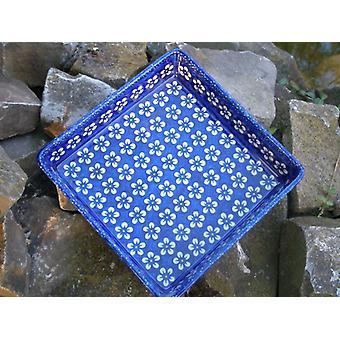 Blue Square bol, 21 x 21 cm, ↑4, 5 cm, Bolesławiec, BSN m-5994