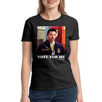 Napoleon Dynamite Vote For Me Women's Black Funny T-shirt