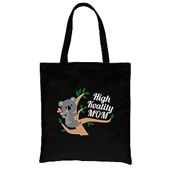 High Koality Mom Black Heavy Cotton Canvas Bag Mother's Day Gifts